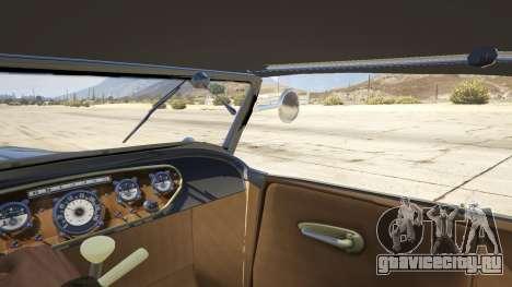 Ford T 1927 Roadster для GTA 5 вид сзади справа
