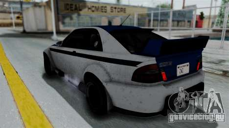 GTA 5 Karin Sultan RS Rally PJ для GTA San Andreas вид снизу