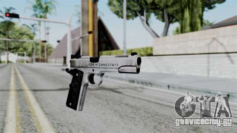 For-h Gangsta13 Pistol для GTA San Andreas