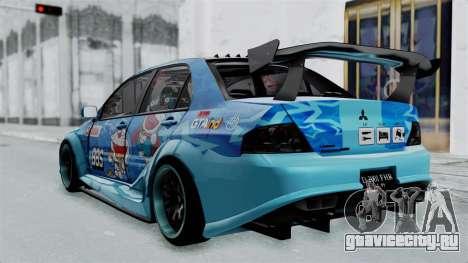 Mitsubishi Lancer Evolution IX MR Edition v2 для GTA San Andreas вид слева