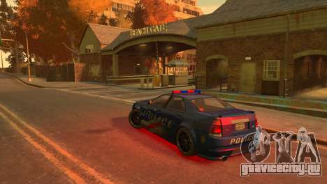 Albany Police Stinger для GTA 4 вид справа