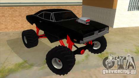 1969 Dodge Charger Monster Truck для GTA San Andreas вид сзади