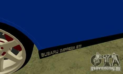 Subaru Impreza WRX STi Wagon 2003 для GTA San Andreas вид сбоку