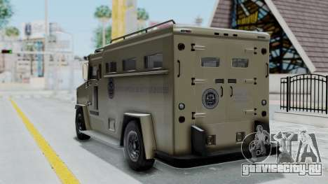 GTA 5 Brute Riot Police IVF для GTA San Andreas вид слева