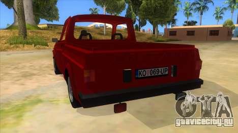 Zastava Poly 1.1 для GTA San Andreas вид сзади слева