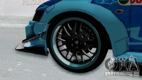 Mitsubishi Lancer Evolution IX MR Edition v2 для GTA San Andreas вид сзади слева