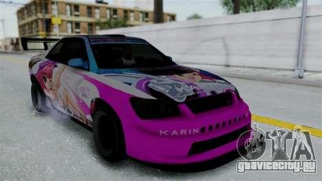 GTA 5 Karin Sultan RS Drift Big Spoiler PJ для GTA San Andreas колёса