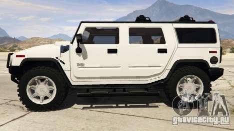 Hummer H2 для GTA 5 вид слева