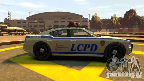 Bravado Buffalo Police Patrol [original wheels] для GTA 4 вид слева