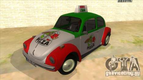 Volkswagen Beetle Pizza для GTA San Andreas