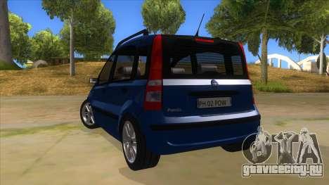 Fiat Panda V3 для GTA San Andreas вид сзади слева