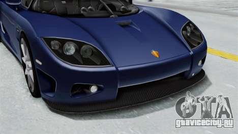 Koenigsegg CCX для GTA San Andreas вид сбоку