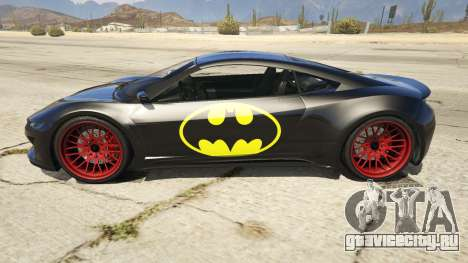 Batman Jester для GTA 5 вид слева