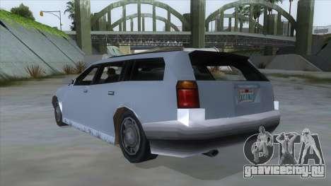 GTA LCS Sindacco Argento для GTA San Andreas вид сзади слева