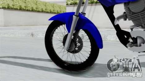 Honda CG Titan 2014 Stunt для GTA San Andreas вид сзади слева