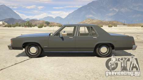 1987 Ford LTD Crown Victoria для GTA 5 вид слева