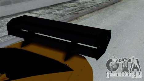 GTA 5 Karin Sultan RS Drift Big Spoiler PJ для GTA San Andreas вид справа