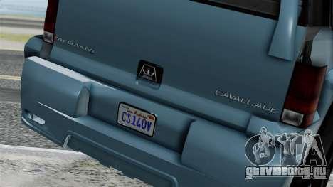 GTA 5 Albany Cavalcade v1 IVF для GTA San Andreas вид сзади слева