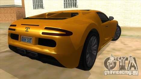 GTA 5 Truffade Adder для GTA San Andreas вид справа