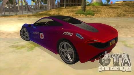 GTA 5 Progen T20 Lights version для GTA San Andreas вид снизу