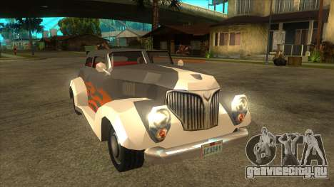 GTA LCS Thunder-Rodd для GTA San Andreas вид сзади
