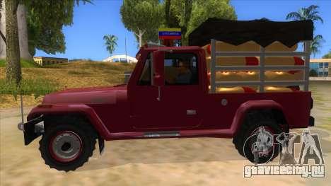 Jeep Pick Up Stylo Colombia для GTA San Andreas вид слева