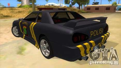 Elegy NR32 Police Edition Grey Patrol для GTA San Andreas вид сзади слева