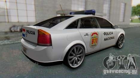 Opel Vectra 2005 Policia для GTA San Andreas вид сзади слева
