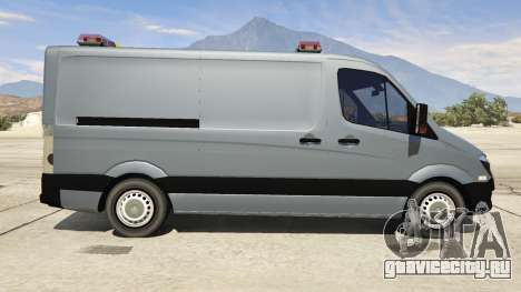 Mercedes-Benz Sprinter Worker Van для GTA 5 вид слева