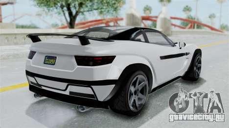 GTA 5 Coil Brawler Coupe для GTA San Andreas вид сзади слева