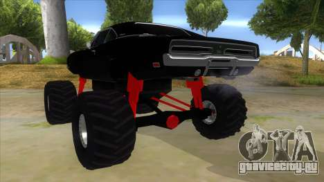 1969 Dodge Charger Monster Truck для GTA San Andreas вид сзади слева