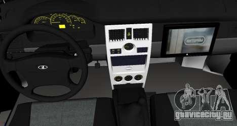 Ваз 2110 v.2.0 для GTA San Andreas вид справа