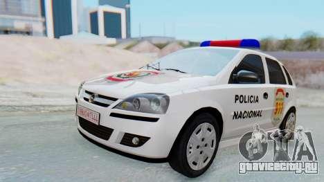 Opel Corsa C Policia для GTA San Andreas