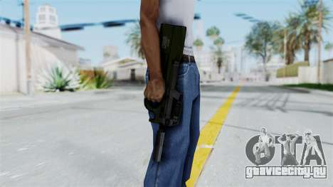 P90 Green для GTA San Andreas третий скриншот