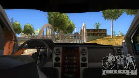 Ford F-150 2015 для GTA San Andreas вид изнутри