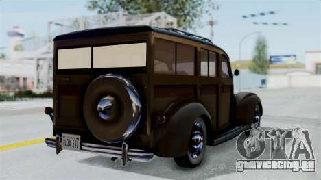 Lincoln Continental 1942 Mafia 2 v1 для GTA San Andreas вид слева