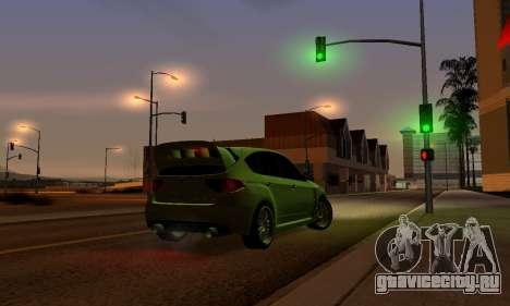 Subaru Impreza WRX STI 2008 LPcars v.1.0 для GTA San Andreas вид сбоку