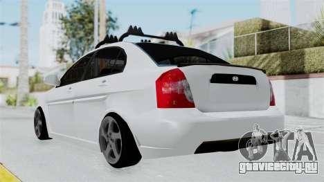 Hyundai Accent Essential Garage для GTA San Andreas вид слева