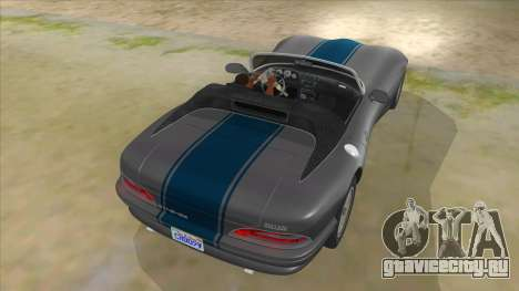 HD Banshee update для GTA San Andreas вид снизу