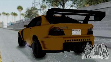 GTA 5 Karin Sultan RS Drift Big Spoiler PJ для GTA San Andreas вид слева