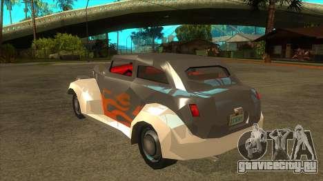 GTA LCS Thunder-Rodd для GTA San Andreas вид сзади слева