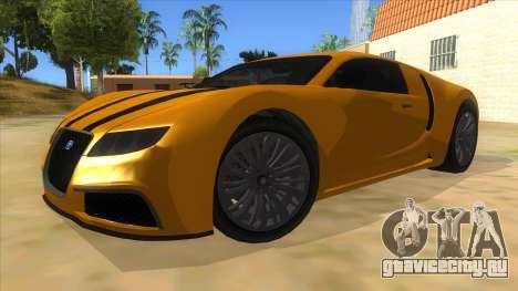GTA 5 Truffade Adder для GTA San Andreas вид сзади