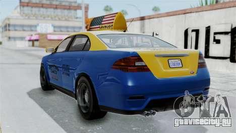 GTA 5 Vapid Stanier Ⅲ (Interceptor) Taxi для GTA San Andreas вид слева