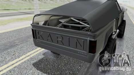 GTA 5 Karin Rebel 4x4 IVF для GTA San Andreas вид сзади