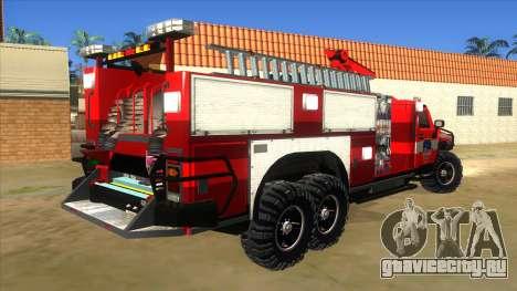 HUMMER H2 Firetruck для GTA San Andreas вид справа