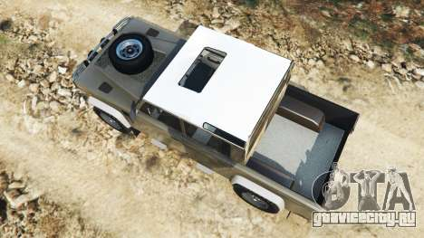 Land Rover Defender 110 Pickup для GTA 5 вид сзади
