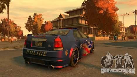 Albany Police Stinger для GTA 4 вид сзади слева