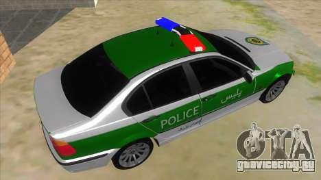 BMW Iranian Police для GTA San Andreas вид справа