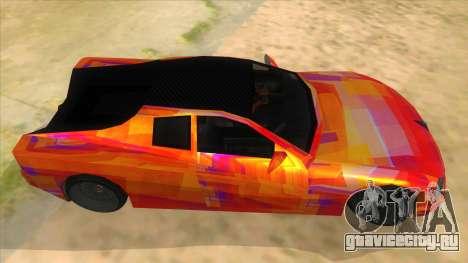 GTA 3 Cheetah ZTR для GTA San Andreas вид изнутри