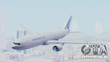 Boeing 777-200 Prototype для GTA San Andreas вид сзади слева